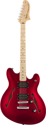 Squier Affinity Series™ Starcaster®, Maple Fingerboard, Candy Apple Red