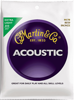 Cordes Acoustique Martin Bronze 80/20 Extra Light