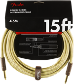 Cables Fender DELUXE 15' INST CABLE TWD Tweed