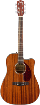 Fender CD-140SCE Dreadnought, Walnut Fingerboard, All-Mahogany w/Case