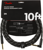 Cables Fender DELUXE 10' ANGL INST CBL BTWD Black Tweed