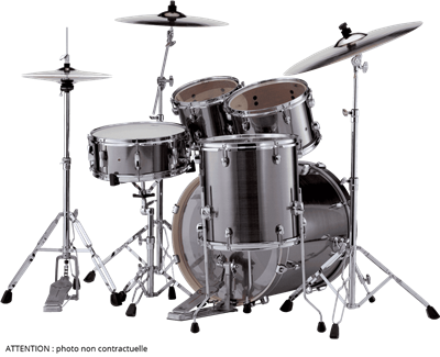 "Batterie Acoustique Pearl Export Fusion 20"" - 5 fûts - Electric Smokey Chrome"