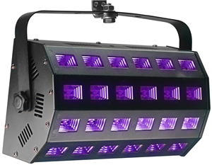 Washer LED UV, 24 x 3 watts, 65°, DMX