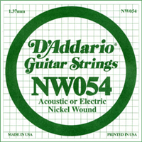 Corde D'Addario Filet Rond Nickel 054