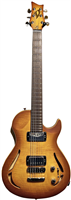 Guitare Vigier GV Rock Hollow Body Anti Amber mate, Rosewood, Chrome