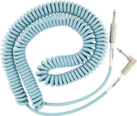Fender Original Series Coil Cable, Straight-Angle, 30', Daphne Blue