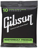 Cordes Gibson Masterbuilt Premium Acoustic, Phosphor Bronze (Super Ultra Lights)