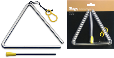 "Triangle Stagg 12mm 6"" avec battant"