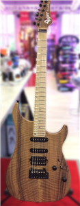 Guitare Electrique Vigier Excalibur Ultra Blues HSS Natural Walnut - Erable