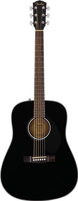 Fender CD-60S Dreadnought, Walnut Fingerboard, Black