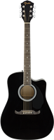 Fender FA-125CE Dreadnought, Walnut Fingerboard, Black
