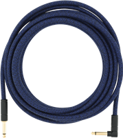 Fender 18,6' Angled Festival Instrument Cable, Pure Hemp, Blue Dream