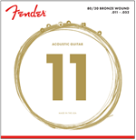 Cordes Acoustique Fender 80/20 BRONZE - 11-52