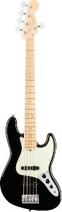 Fender American Pro Jazz Bass® V, Maple Fingerboard, Black