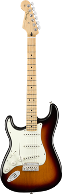 Fender Player Stratocaster® Left-Handed, Maple Fingerboard, 3-Color Sunburst