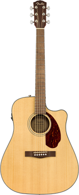 Fender CD-140SCE Dreadnought, Walnut Fingerboard, Natural w/case