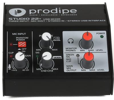 Carte Son Prodipe Studio 22+