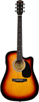 Squier SA-105CE, Dreadnought Cutaway, Stained Hardwood Fingerboard, Sunburst