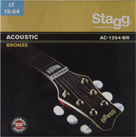 Cordes Stagg bronze 12-54 pour guitare folk