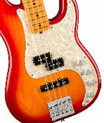 Fender American Ultra Precision Bass®, Maple Fingerboard, Plasma Red Burst