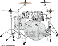 "Batterie Acoustique Pearl Crystal Beat Rock 22"" 4 Fûts - Ultra Clear"