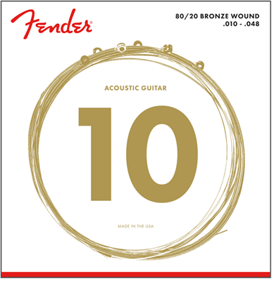 Cordes Acoustique Fender 12 cordes  80/20 BRONZE - 10-50