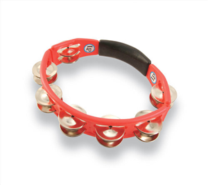 Latin Percussion LP151 Tambourins Cyclop à main Cymbalettes acier, Rouge