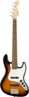 Squier Affinity Series™ Jazz Bass® V, Laurel Fingerboard, Brown Sunburst