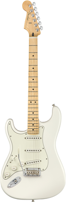 Guitare Electrique Fender Player Stratocaster Gaucher Erable, Polar White