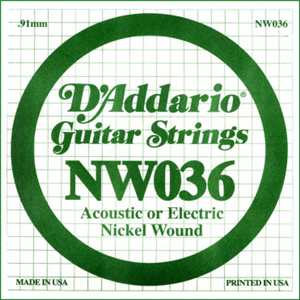 Corde D'Addario Filet Rond Nickel 036