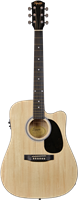 Squier SA-105CE, Dreadnought Cutaway, Stained Hardwood Fingerboard, Natural
