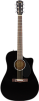 Fender CD-60SCE Dreadnought, Walnut Fingerboard, Black