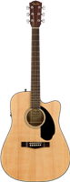 Fender CD-60SCE Dreadnought, Walnut Fingerboard, Natural