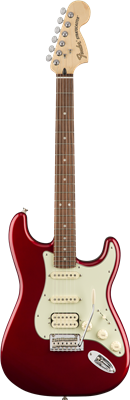 Fender Deluxe Stratocaster® HSS, Pau Ferro Fingerboard, Candy Apple Red