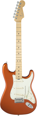 Guitare Electrique Fender Stratocaster US Elite Automn Blaze Metall- Erable
