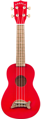 Ukulélé - Soprano (Standard) Kala MK-SD - MAKALA DOLPHIN Candy Apple Red - Candy