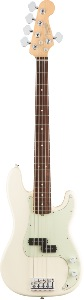 Basse Fender Precision Bass 5 cordes American Pro Olympic White RW