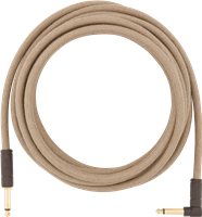 Fender 18,6' Angled Festival Instrument Cable, Pure Hemp, Natural