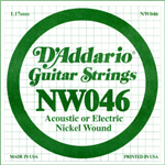 Corde D'Addario Filet Rond Nickel 046